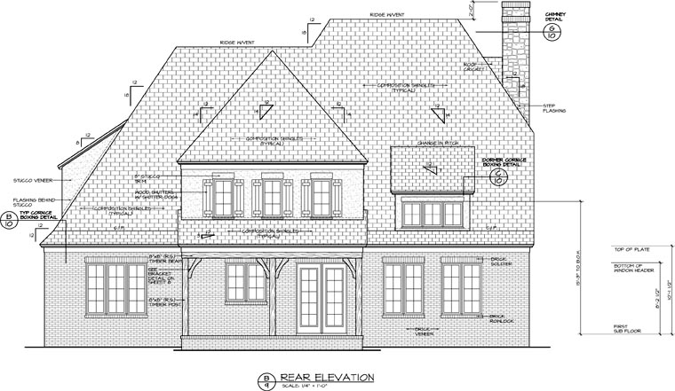 Cottage European House Plan 85517 Rear Elevation