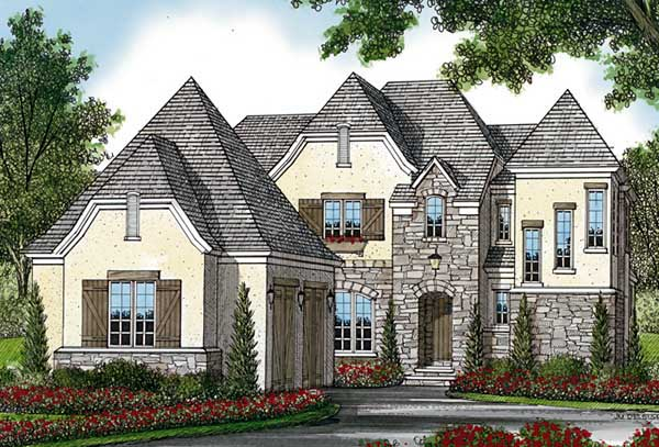 Country European House Plan 85525 Elevation