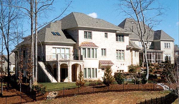 Craftsman , Cottage House Plan 85528 with 4 Beds, 5 Baths, 2 Car Garage Rear Elevation
