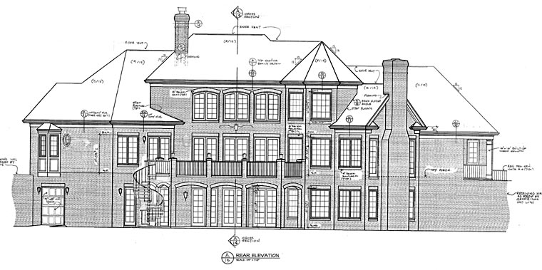 Traditional House Plan 85530 Rear Elevation
