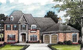 European Traditional House Plan 85531 Elevation