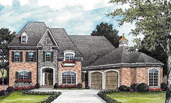 European Traditional House Plan 85531 Elevation