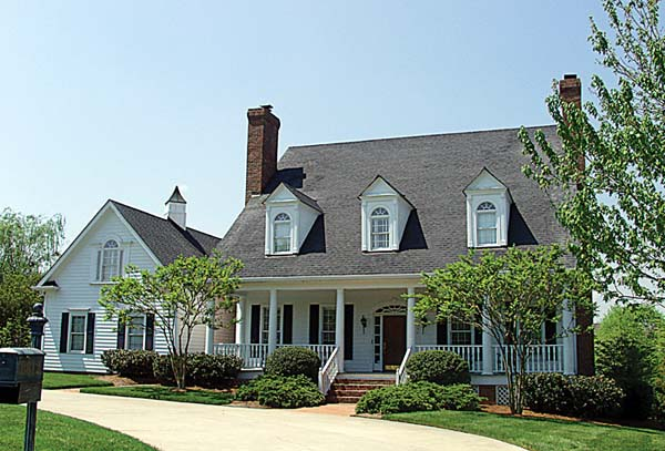 Colonial Cottage Country Farmhouse Traditional House Plan 85532 Elevation
