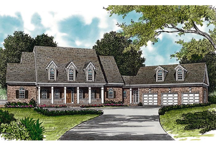 Colonial Cottage Country Farmhouse Traditional House Plan 85533 Elevation