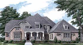 Cottage , Craftsman House Plan 85538 with 5 Beds, 6 Baths, 3 Car Garage Elevation
