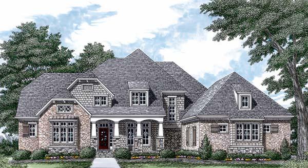 Cottage Craftsman House Plan 85538 Elevation