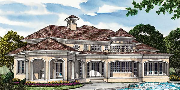 Mediterranean House Plan 85543 Rear Elevation