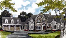 House Plan 85544 | Cottage Country European Style Plan with 5969 Sq Ft, 7 Bedrooms, 8 Bathrooms, 3 Car Garage Elevation