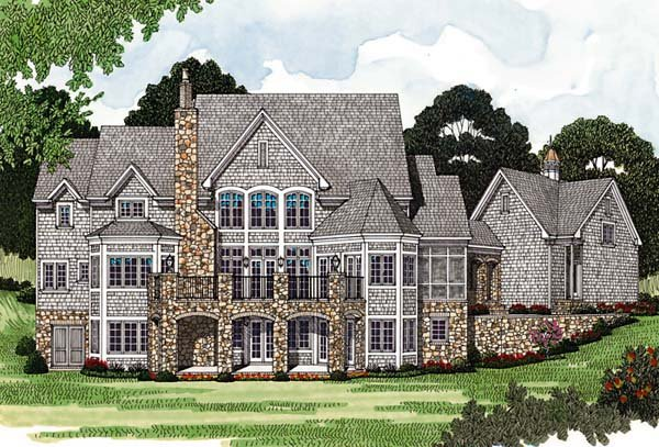 Cottage Country European House Plan 85544 Rear Elevation