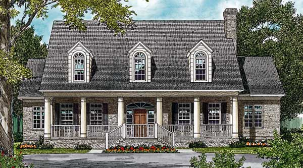 Colonial Cottage Country Farmhouse House Plan 85550 Elevation