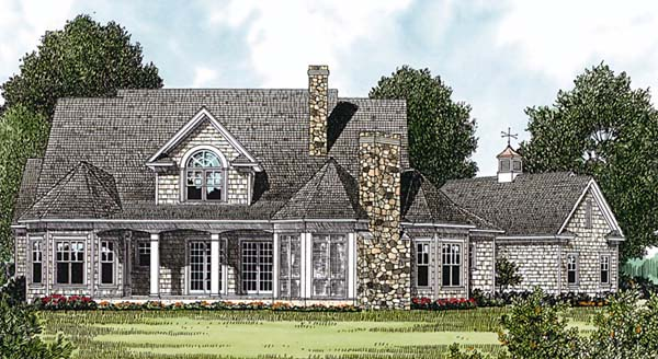 Cottage Craftsman House Plan 85553 Rear Elevation