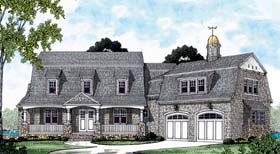 Cape Cod European House Plan 85554 Elevation
