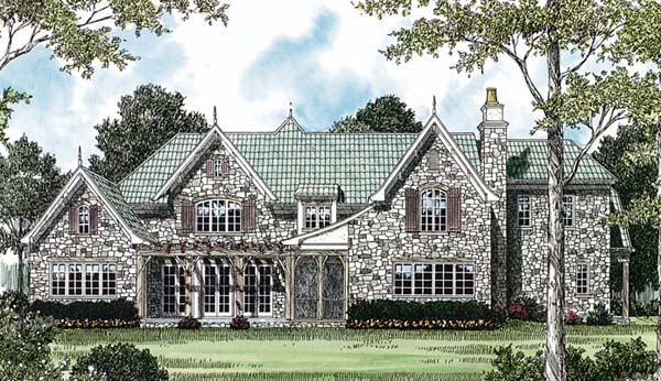 Country European House Plan 85559 Rear Elevation