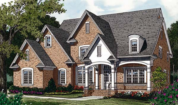 Cottage , European House Plan 85560 with 4 Beds, 4 Baths, 3 Car Garage Elevation