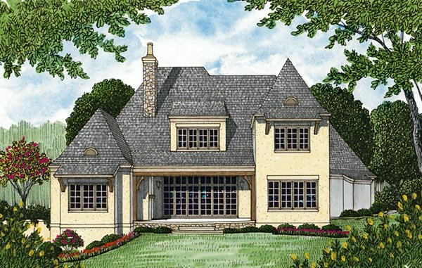 Country French Country House Plan 85561 Rear Elevation