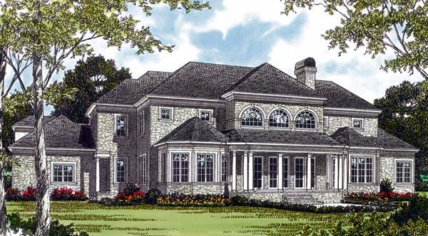 Traditional House Plan 85563 Rear Elevation