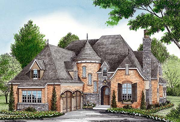 Country European House Plan 85566 Elevation