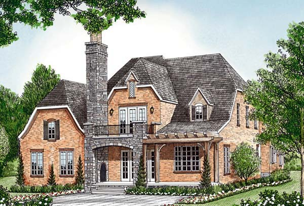 Country European House Plan 85566 Rear Elevation