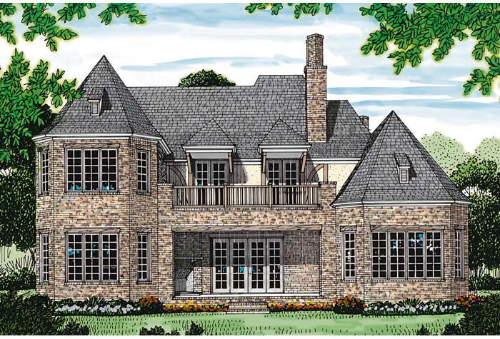 French Country Tudor House Plan 85569 Rear Elevation
