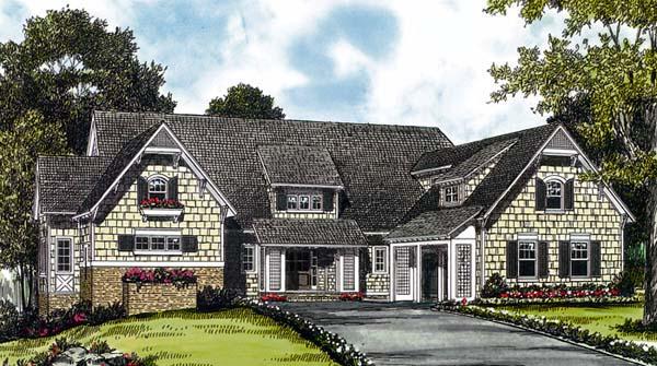 Cottage Craftsman Elevation of Plan 85571