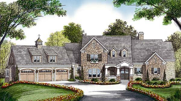 Cottage, Craftsman House Plan 85573 with 5 Beds, 6 Baths, 3 Car Garage Front Elevation