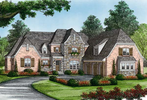 Country, European House Plan 85575 with 4 Beds, 5 Baths, 3 Car Garage Elevation