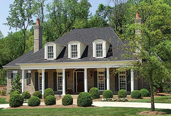 Colonial Country Farmhouse House Plan 85576 Elevation