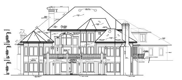 European Mediterranean House Plan 85580 Rear Elevation