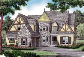 Country European Tudor House Plan 85581 Elevation
