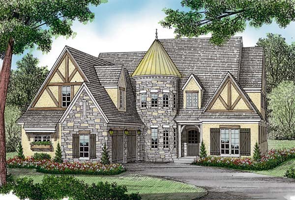 Country European Tudor House Plan 85581 Elevation