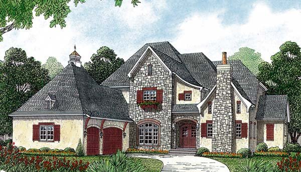 Country European House Plan 85587 Elevation