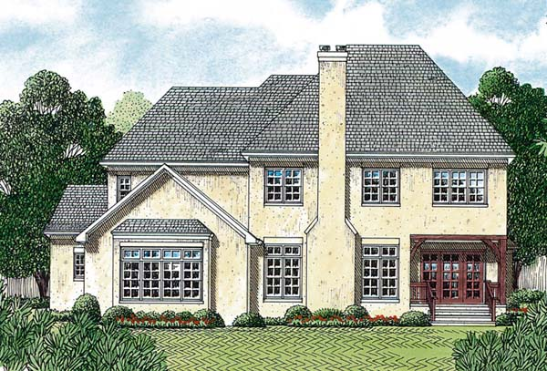 Country European House Plan 85587 Rear Elevation