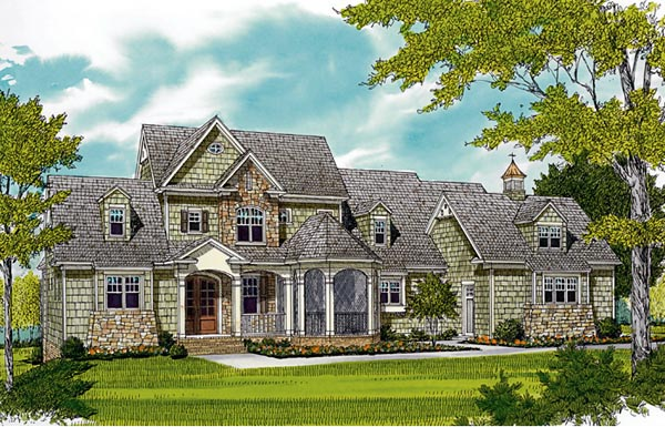 Cottage Craftsman House Plan 85590 Elevation
