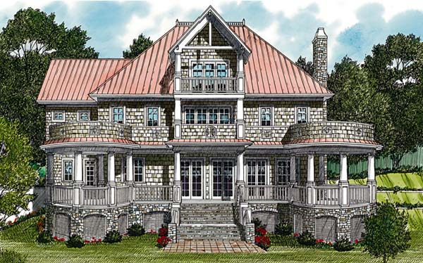 Cottage Craftsman House Plan 85591 Rear Elevation