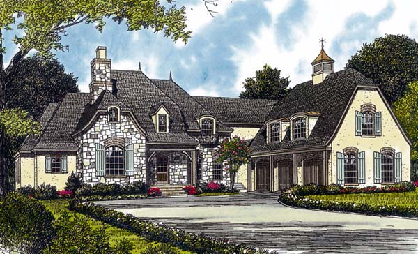 Country European House Plan 85595 Elevation