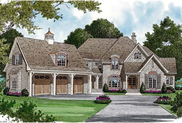 Country, European House Plan 85601 with 5 Beds, 6 Baths, 3 Car Garage Elevation