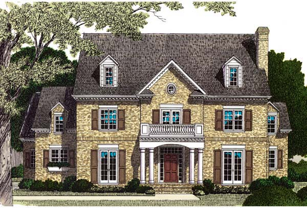 Colonial Traditional House Plan 85602 Elevation