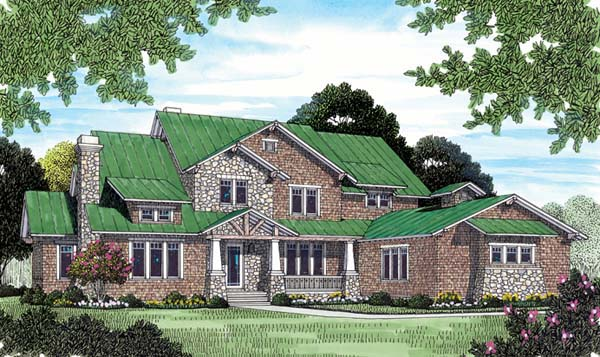 Cottage Craftsman Elevation of Plan 85603