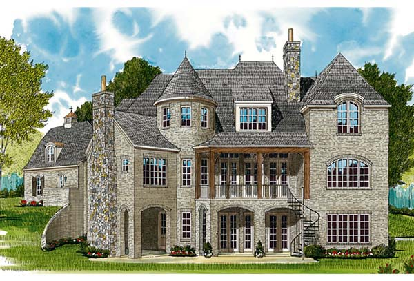 Country European House Plan 85606 Rear Elevation