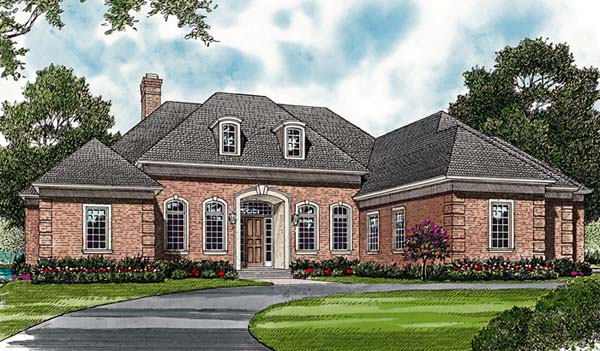 European Traditional House Plan 85609 Elevation