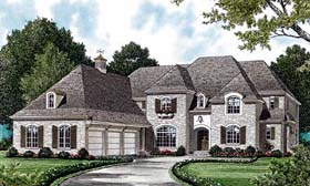 House Plan 85613   Traditional Style Plan with 5093 Sq Ft, 4 Bedrooms, 4 Bathrooms, 3 Car Garage Elevation