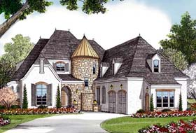 Country European House Plan 85618 Elevation