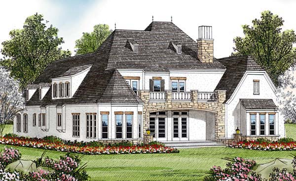 Country European House Plan 85618 Rear Elevation
