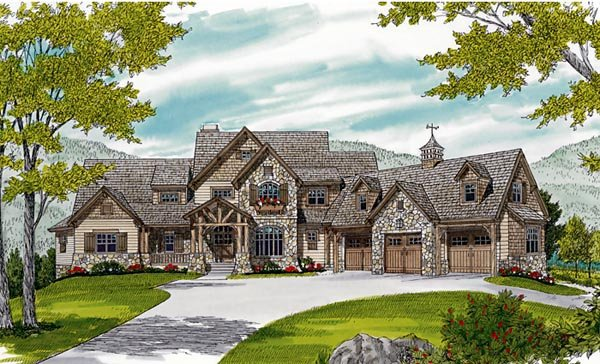 Cottage Craftsman House Plan 85622 Elevation