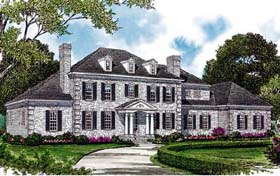 Colonial Traditional House Plan 85623 Elevation