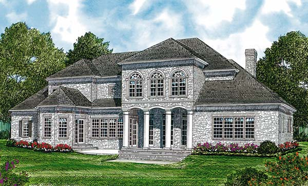 Colonial Traditional House Plan 85623 Rear Elevation