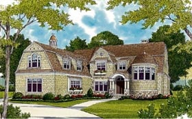 Cottage Craftsman French Country House Plan 85636 Elevation