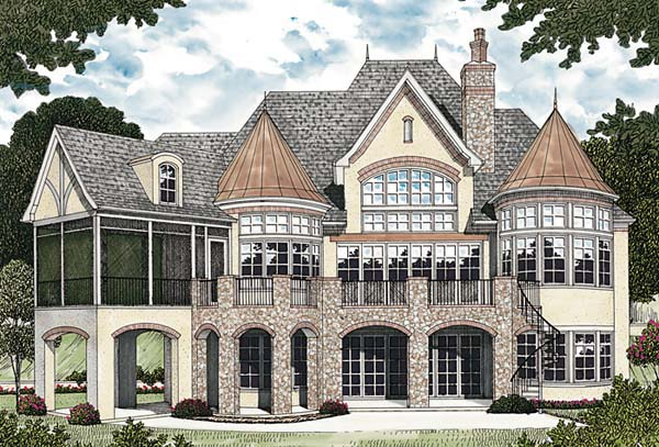 Country European House Plan 85639 Rear Elevation