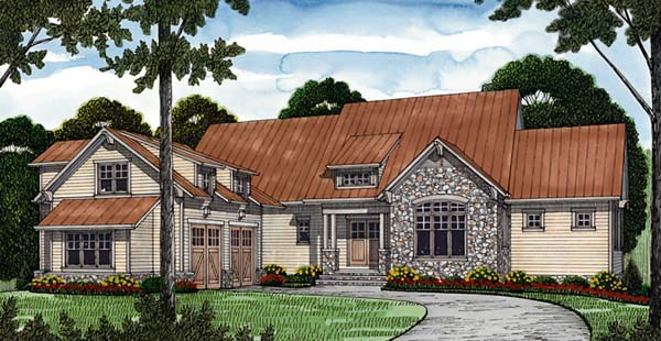 Cottage, Craftsman House Plan 85643 with 6 Beds, 6 Baths, 2 Car Garage Elevation