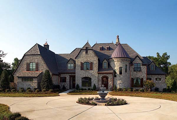Country, European House Plan 85645 with 4 Beds, 6 Baths, 3 Car Garage Elevation
